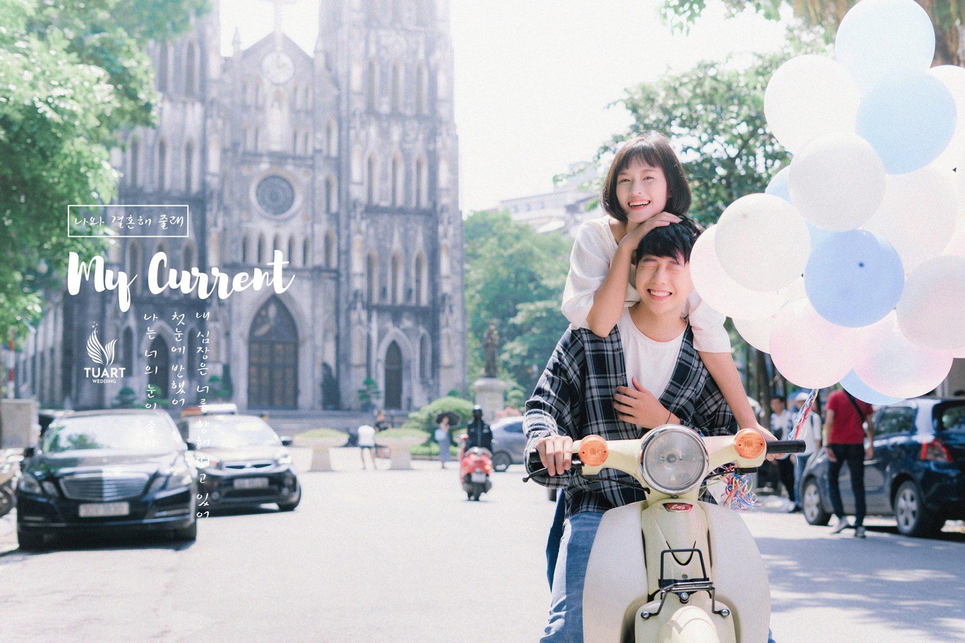Album ảnh cưới theo phong cách Hàn Quốc tại Hà Nội